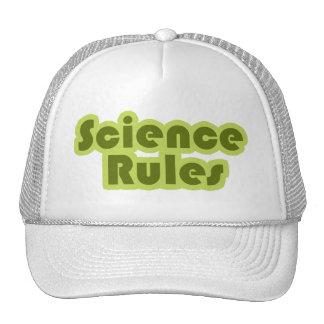 Reglas de la ciencia gorros