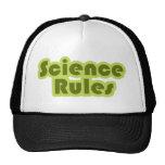 Reglas de la ciencia gorros bordados