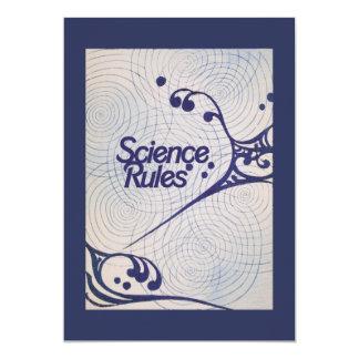 """Reglas de la ciencia invitación 5"""" x 7"""""""