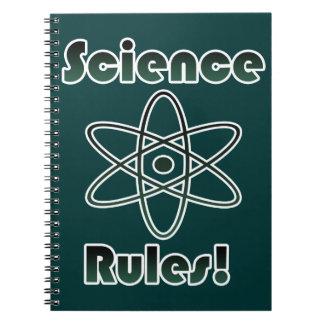 Reglas de la ciencia libros de apuntes con espiral