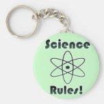 Reglas de la ciencia llaveros personalizados