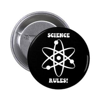 reglas de la ciencia pin redondo de 2 pulgadas