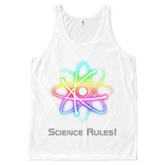Reglas de la ciencia - símbolo colorido del átomo