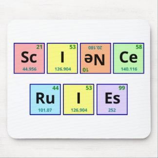 Reglas de la ciencia tapete de raton