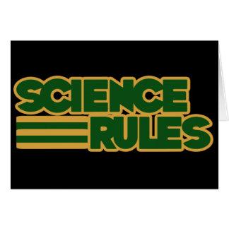 Reglas de la ciencia tarjeta de felicitación