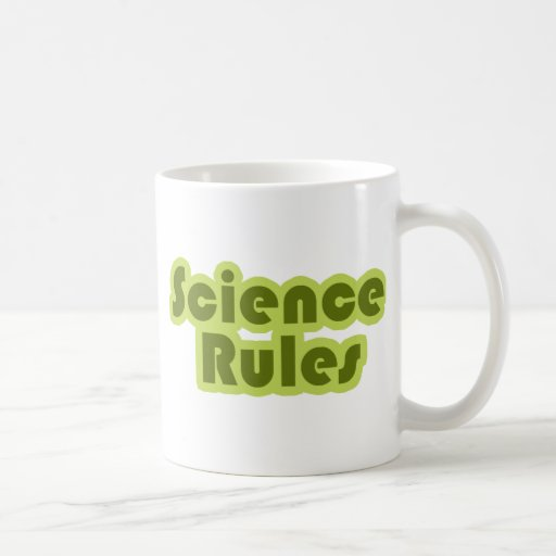 Reglas de la ciencia taza de café