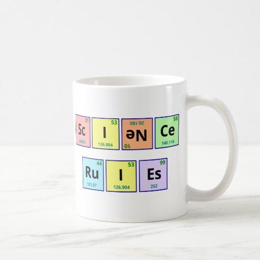 Reglas de la ciencia tazas