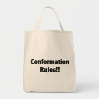 Reglas de la conformación bolsa tela para la compra