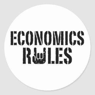 Reglas de la economía pegatina redonda