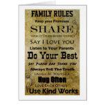 Reglas de la familia tarjeton
