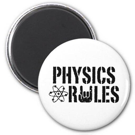 Reglas de la física iman de nevera