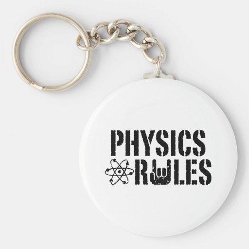 Reglas de la física llavero personalizado