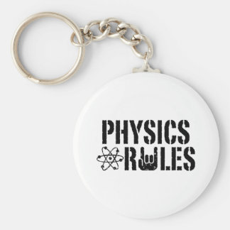 Reglas de la física llavero redondo tipo pin