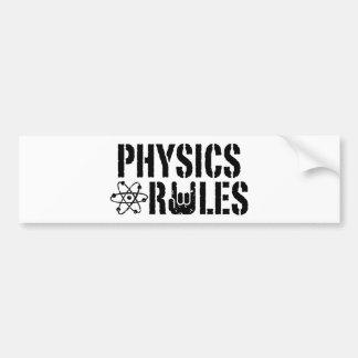 Reglas de la física pegatina para auto