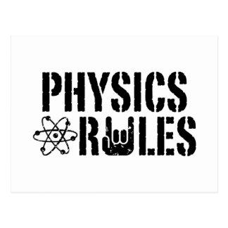 Reglas de la física tarjetas postales