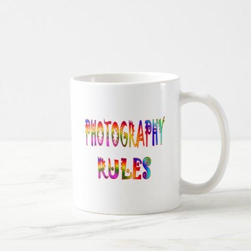 Reglas de la fotografía taza