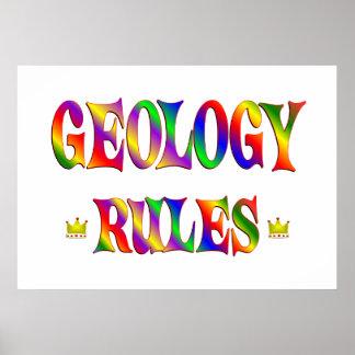 Reglas de la geología impresiones