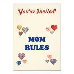 Reglas de la mamá invitación 12,7 x 17,8 cm