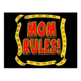 Reglas de la mamá postales