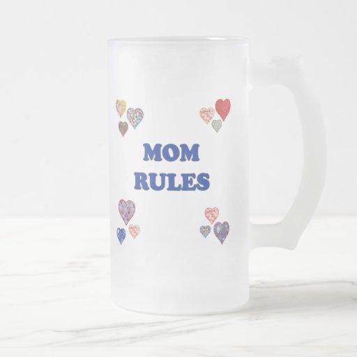 Reglas de la mamá tazas