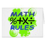 Reglas de la matemáticas felicitaciones