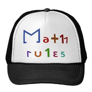 Reglas de la matemáticas gorra
