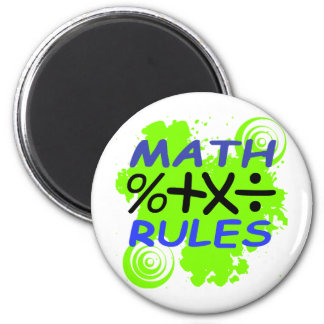 Reglas de la matemáticas imán de frigorífico
