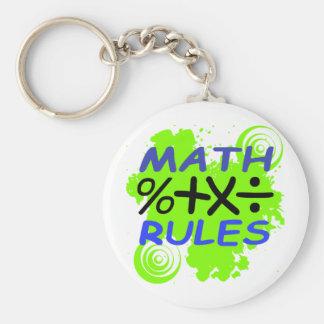 Reglas de la matemáticas llavero redondo tipo pin