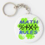 Reglas de la matemáticas llaveros personalizados