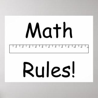 ¡Reglas de la matemáticas! Posters