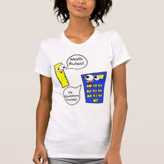 Reglas de la matemáticas t shirts