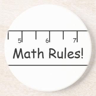 ¡Reglas de la matemáticas! Posavaso Para Bebida