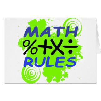 Reglas de la matemáticas tarjeta de felicitación