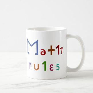 Reglas de la matemáticas taza de café