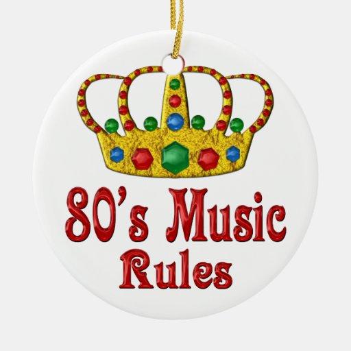 reglas de la música 80s adornos
