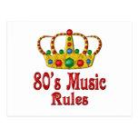 reglas de la música 80s tarjeta postal