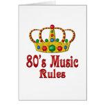 reglas de la música 80s tarjetas