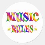 Reglas de la música pegatina