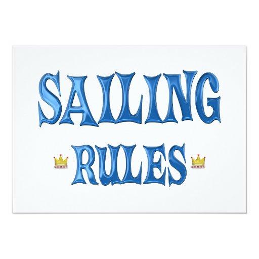 """Reglas de la navegación invitación 5"""" x 7"""""""
