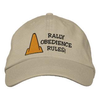 Reglas de la obediencia de la reunión gorra de béisbol