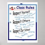 Reglas de la sala de clase impresiones