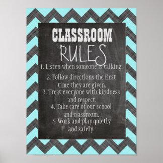 Reglas de la sala de clase póster