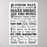 Reglas de la sala de juegos poster