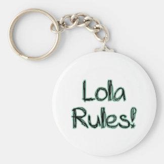 ¡Reglas de Lola! Llavero Personalizado