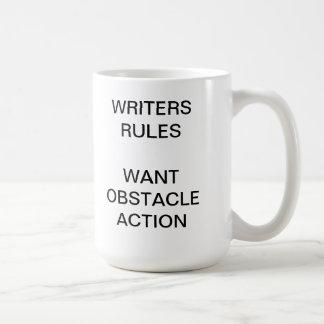 Reglas de los escritores taza de café