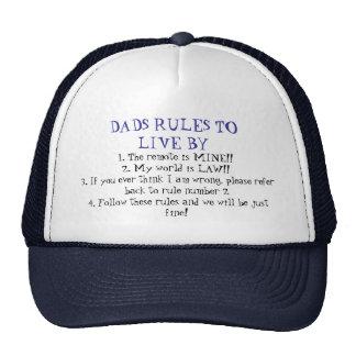 Reglas de los papás gorras de camionero