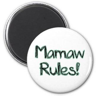 ¡Reglas de Mamaw! Iman De Nevera