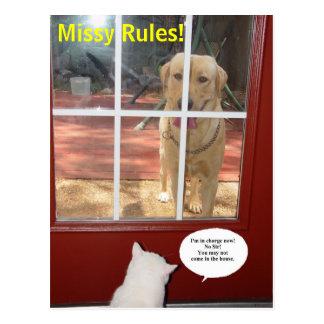 ¡Reglas de Missy! Postal