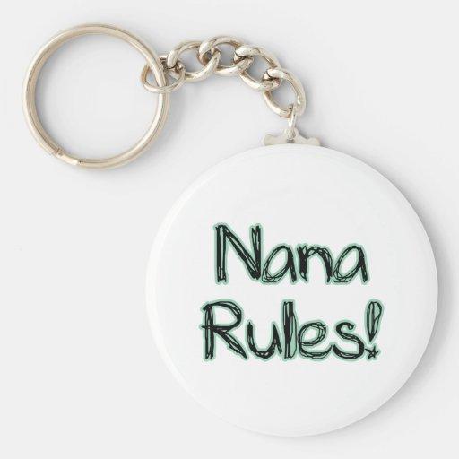 ¡Reglas de Nana! Llavero Personalizado