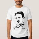 ¡Reglas de Nikola Tesla! Silueta Playeras